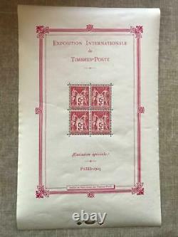 France Bloc Feuillet N°1 1925 Neuf Sans Charniere Cote Yvert Et Tellier 5500