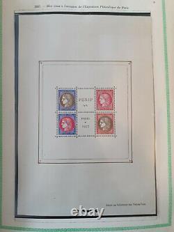 France Bloc Feuillet de 4 Timbres PEXIP 1937 Complet neuf N°3 AGO