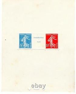 France Bloc Feuillet n°2 Strasbourg 1927
