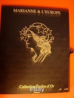 France Coffret Marianne d'Or 15 blocs luxe dans leur coffret cote 520