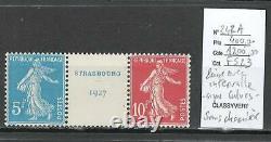 France Yvert 242 A issue du BLOC FEUILLET No2 Exposition Strasbourg