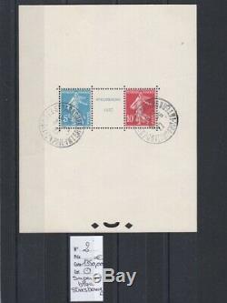 France, superbe bloc n° 2 exposition Phil. À Strasbourg oblitéré cote 1350,00