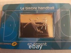 France timbre en argent le handball numéro 738 année 2012