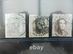 Lot d'anciens timbres belges
