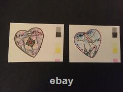 Lot timbres neufs adhésif original, variétés Chanel
