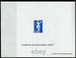 MARIANNE du Bicentenaire BRIAT 1996 3005-3007 les 3 Feuillets non dentelé gommé