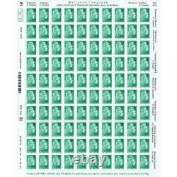 NOUVEAUTE Feuille 100 timbres Marianne l'engagée surchargée 1970-2020
