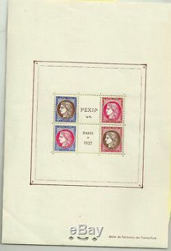 Poste Bloc Y & T n°3 neuf 5-15-30-50c Expo Phil Intern Pexip 1937
