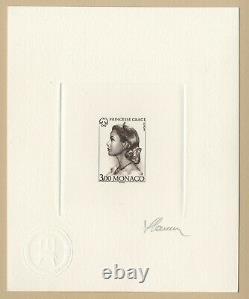 Princesse Grace de Monaco 1996 Epreuve brun foncé signée Slania RARE! Die Proof