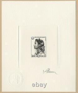 Princesse Grace de Monaco 1996 Epreuve noire signée Slania RARE! Die Proof