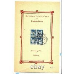 Rare Bloc-Feuillet n° 1- 5F. BLEU Oblitération (EXPO PARIS 1989) FR3 BL2035
