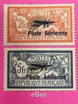 TIMBRES FRANCE POSTE AERIENNE N°1 et 2 NEUF (avec charnière) Côte 500 (N°37)