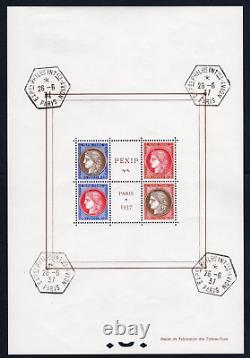 TIMBRES FRANCE année 1937 BLOC n°3 NEUF Oblitération EXPOSITION de PARIS