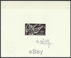 Taaf Fsat Espace Space Araks Raumfahrt Epreuve Artiste Signe Signed Proof 1975