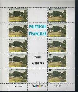 Timbre 34 Planches Complète Polynésie Française/ Bord de feuille Neuf F Cote