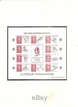 Timbre France Frankreich 1992 Jo Alberville Bloc N°14 Epreuve De Luxe