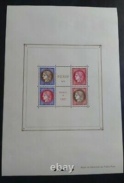 Timbre Neuf MNH BLOC-FEUILLET N° 3 PEXIP EXPOSITION PHILATÉLIQUE PARIS 1937
