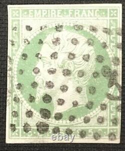 Timbre de France classique 5c vert N°12 obl losange ancre maritime