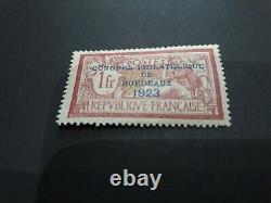 Timbre de france n° 182 neuf avec trace de charniere cote 575 euro