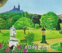 Variete Timbre France Bloc Et Feuillet Jardin Flou De 2008 Decalage Impression